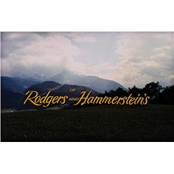 "THE SOUND OF MUSIC ""OF RODGERS & HAMMERSTEIN'S"" TITLE CREDIT CAMERA ART"