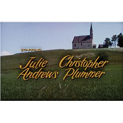 THE SOUND OF MUSIC JULIE ANDREWS & CHRISTOPHER PLUMMER LEAD-CREDIT CAMERA ART