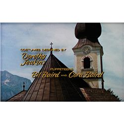THE SOUND OF MUSIC PAIR OF PRODUCTION-CREDITS CAMERA ART, COSTUMES AND CHOREOGRAPHY