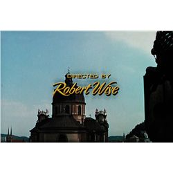 "THE SOUND OF MUSIC ""DIRECTED BY ROBERT WISE"" TITLE CREDIT CAMERA ART"