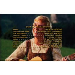 THE SOUND OF MUSIC CAST CREDITS CAMERA ART, MARIA THROUGH BRIGITTA