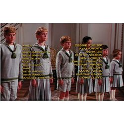 THE SOUND OF MUSIC CAST CREDITS CAMERA ART, MARTA THROUGH BARONESS