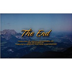 "THE SOUND OF MUSIC ""THE END"" TITLE CAMERA ART"