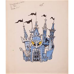"H.R. PUFNSTUFF ""WITCHIEPOO'S"" CASTLE SKETCH"