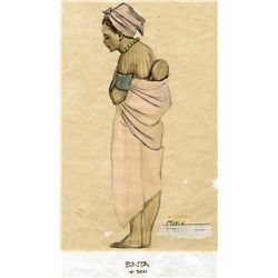 COLLECTION OF (5) SKETCHES OF AFRICAN AMERICAN CHARACTERS FOR ROOTS