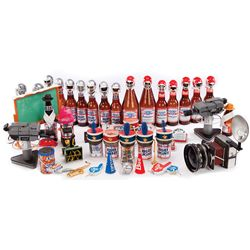 STOP MOTION BOTTLE PLAYERS AND PROPS FROM BUD BOWL I, II & III TV ADS