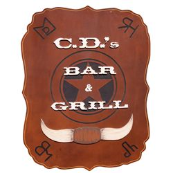 WALKER TEXAS RANGER CD BAR & GRILL SIGN