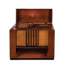 "VINTAGE WILCOX GAY ""RECORDIO"" CONSOLE WITH DECO CABINET"