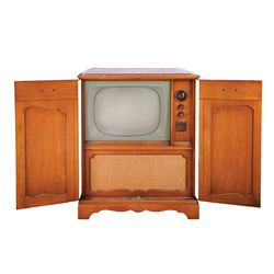 CALIFORNIA 1960 HEAVY-WOOD LARGE SCREEN DUMONT CONSOLE TV