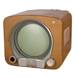 VINTAGE ZENITH EARLY ROUND-SCREEN TABLETOP TV