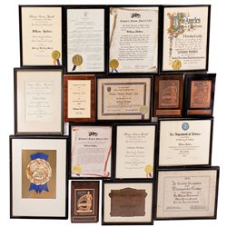 COLLECTION OF (20) WILLIAM HOLDEN AWARDS