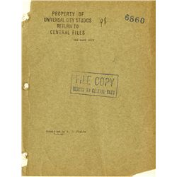 W.C. FIELDS SUBMITTED COPY OF THE BANK DICK SCRIPT