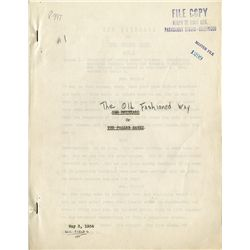 W.C. FIELDS THE OLD FASHIONED WAY SCRIPT AND SIGNED WRITER'S AGREEMENT