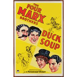 GROUCHO MARX SIGNED DUCK SOUP LIMITED LITHO ONE-SHEET POSTER