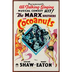 GROUCHO MARX SIGNED THE COCOANUTS  LIMITED LITHO ONE-SHEET POSTER