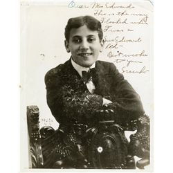 SIGNED YOUNG GROUCHO MARX ORIGINAL PHOTOGRAPH FROM 1905