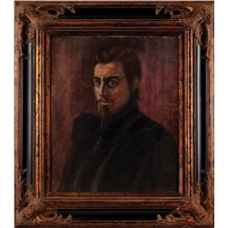 JAMES MONTGOMERY FLAGG PAINTING OF JOHN BARRYMORE FROM THE BELOVED ROGUE.