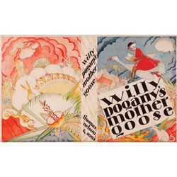 "WILLY POGANY ARTWORK FOR ""MOTHER GOOSE"" DUST JACKET"