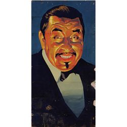 ORIGINAL GRAUMAN'S CHINESE THEATER LOBBY ART OF WARNER OLAND AS CHARLIE CHAN