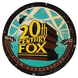 20TH CENTURY FOX 1950'S METAL SIGN