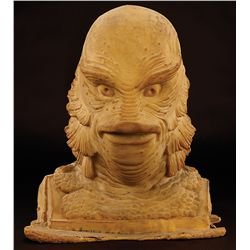 "THE CREATURE FROM THE BLACK LAGOON RUBBER BUST AND STEVE WANG MONSTER SQUAD ""GILLMAN"" HANDS"