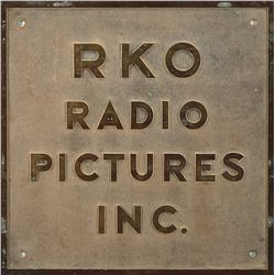 PAIR OF RKO STUDIO ENTRANCE PLAQUES