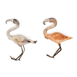 PAIR OF WILLIS O'BRIEN STAND-IN BIRD FIGURES USED IN CREATION AND KING KONG