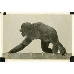 WILLIS O'BRIEN SET PHOTOGRAPH OF KING KONG BEING ANIMATED