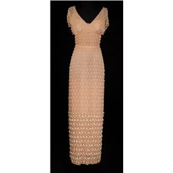 "RITA HAYWORTH ""PRINCESS SALOME"" BEADED CHIFFON DRESS FROM SALOME"