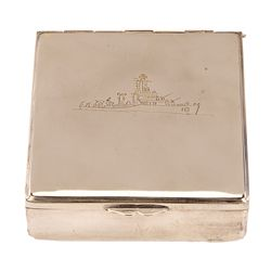 "THE CAINE MUTINY SILVER ""CREW GIFT"" CASE, ENGRAVED TO STANLEY KRAMER"