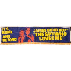 JAMES BOND FABRIC PROMOTIONAL BANNER FOR THE SPY WHO LOVED ME
