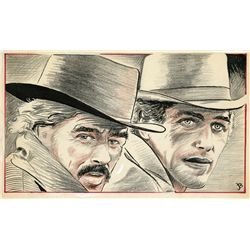 BUTCH CASSIDY AND THE SUNDANCE KID STORYBOARD PANEL