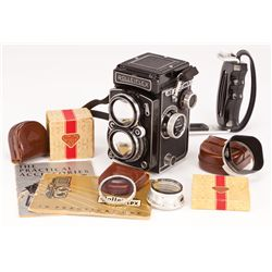 JOHN CHAMBERS PERSONAL ROLLEIFLEX CAMERA IN CASE
