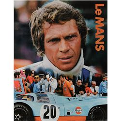 STEVE MCQUEEN LE MANS GAS STATION POSTER