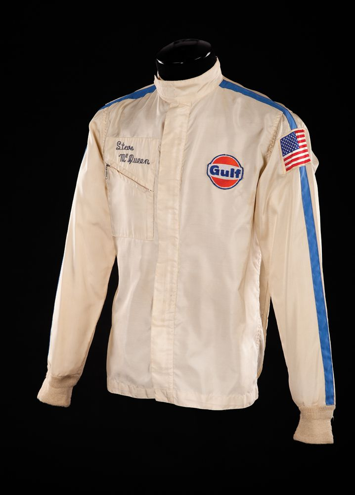 "STEVE MCQUEEN HERO SCREEN WORN ""MICHAEL DELANEY"" TEAM GULF"