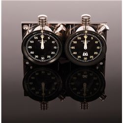 "STEVE MCQUEEN'S HEUER ""TWIN SET"" STOPWATCHES USED DURING LE MANS"