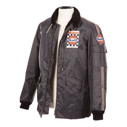 "STEVE MCQUEEN HERO SCREEN-WORN ""MICHAEL DELANEY"" TEAM GULF RAIN JACKET FROM LE MANS"
