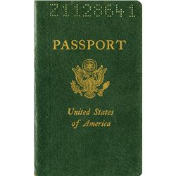 STEVE MCQUEEN SIGNED U.S. PASSPORT USED DURING THE FILMING OF LE MANS.