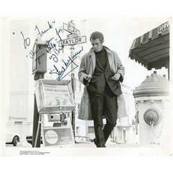 STEVE MCQUEEN SIGNED BULLITT PHOTO
