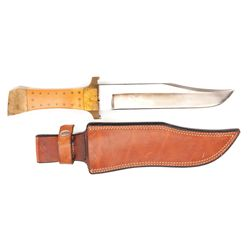STEVE MCQUEEN'S CUSTOM HUNTING KNIFE WITH SHEATH