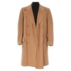 "AL PACINO ""MICHAEL CORLEONE"" CAMEL WOOL OVERCOAT FROM THE GODFATHER PART II."