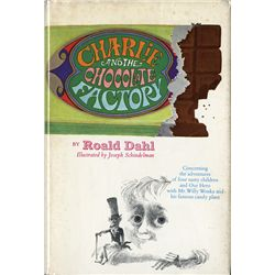 CHARLIE & THE CHOCOLATE FACTORY SIGNED BY DAHL, WILDER & NUMEROUS CAST MEMBERS OF WILLY WONKA