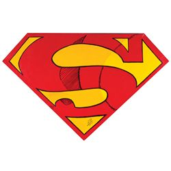 "STEVE KAUFMAN SUPERMAN ""S"" SYMBOL PAINTING. (CA.1995)"