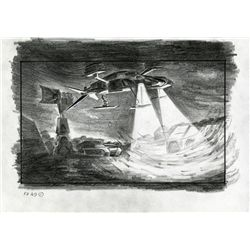 DETAILED STORYBOARD OF DROP SHIP APPROACHING ALIENS COLONY.
