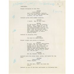 DAVID PEOPLES ORIGINAL TYPEWRITTEN MANUSCRIPT FOR BLADE RUNNER
