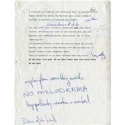JOANNA CASSIDY NOTATED GHOSTS OF MARS SHOOTING SCRIPT AND MATERIALS