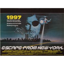 ESCAPE FROM NEW YORK ORIGINAL U.K. QUAD POSTER