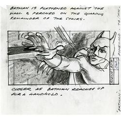 FIVE (5) ORIGINAL BATMAN STORYBOARDS