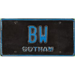 "BATMAN FOREVER ""BRUCE WAYNE"" LICENSE PLATE"