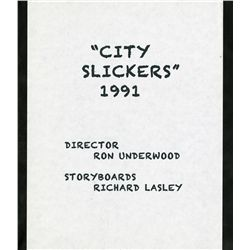 PORTFOLIO OF ORIGINAL RICHARD LASLEY STORYBOARD ART FOR CITY SLICKERS